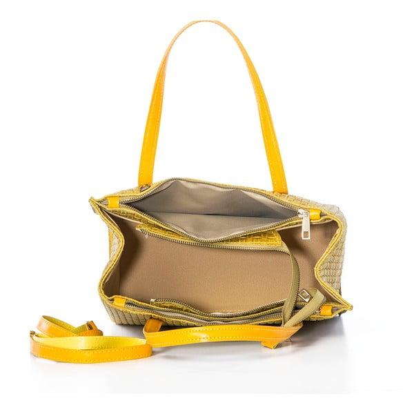 Żółta torebka skórzana Federica Bassi Matar