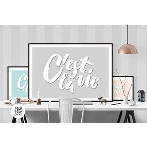 Plakat C'est La Vie Grey, A3