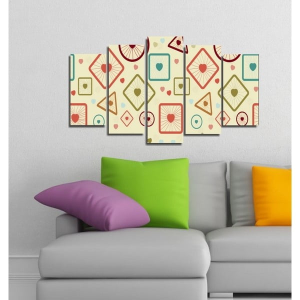 5-częściowy obraz Geometryczna miłość