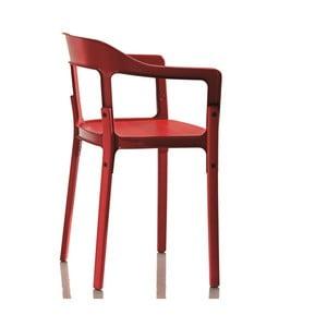 Czerwone krzesło Magis Steelwood