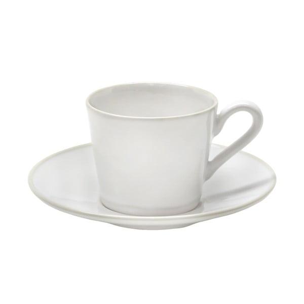 Biała filiżanka ceramiczna ze spodkiem Costa Nova Astoria, 180 ml