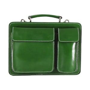 Zielona torba skórzana Budy