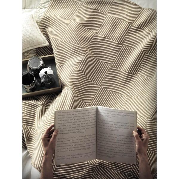 Beżowy koc Euromant Tebas, 140x180 cm