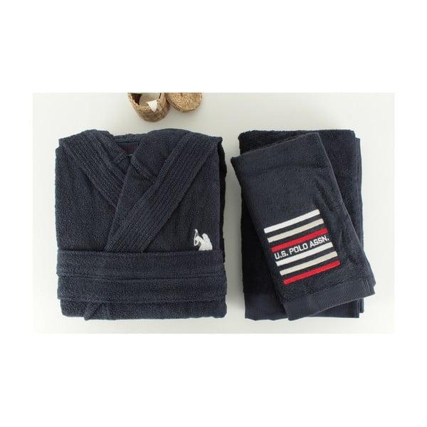 Zestaw męskiego szlafroka i 2 ręczników U.S. Polo Assn. Lutsen, roz. S