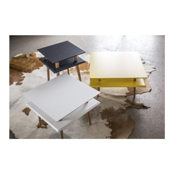 Ciemnoszary stolik Ragaba Square, 55x55 cm