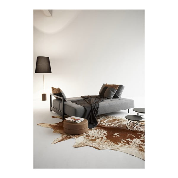 Szara rozkładana sofa Innovation Bifrost Twist Charcoal, 115x210 cm