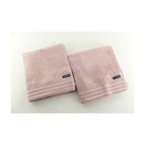 Komplet 2 ręczników Towel US Polo Hand Beige, 50x100 cm