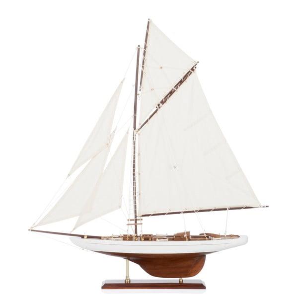 Dekoracja: statek Sail Boat White, 69 cm