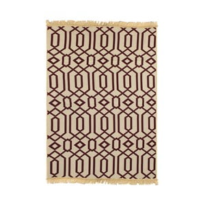 Czerwono-beżowy dywan Ya Rugs Kenar, 60x90cm
