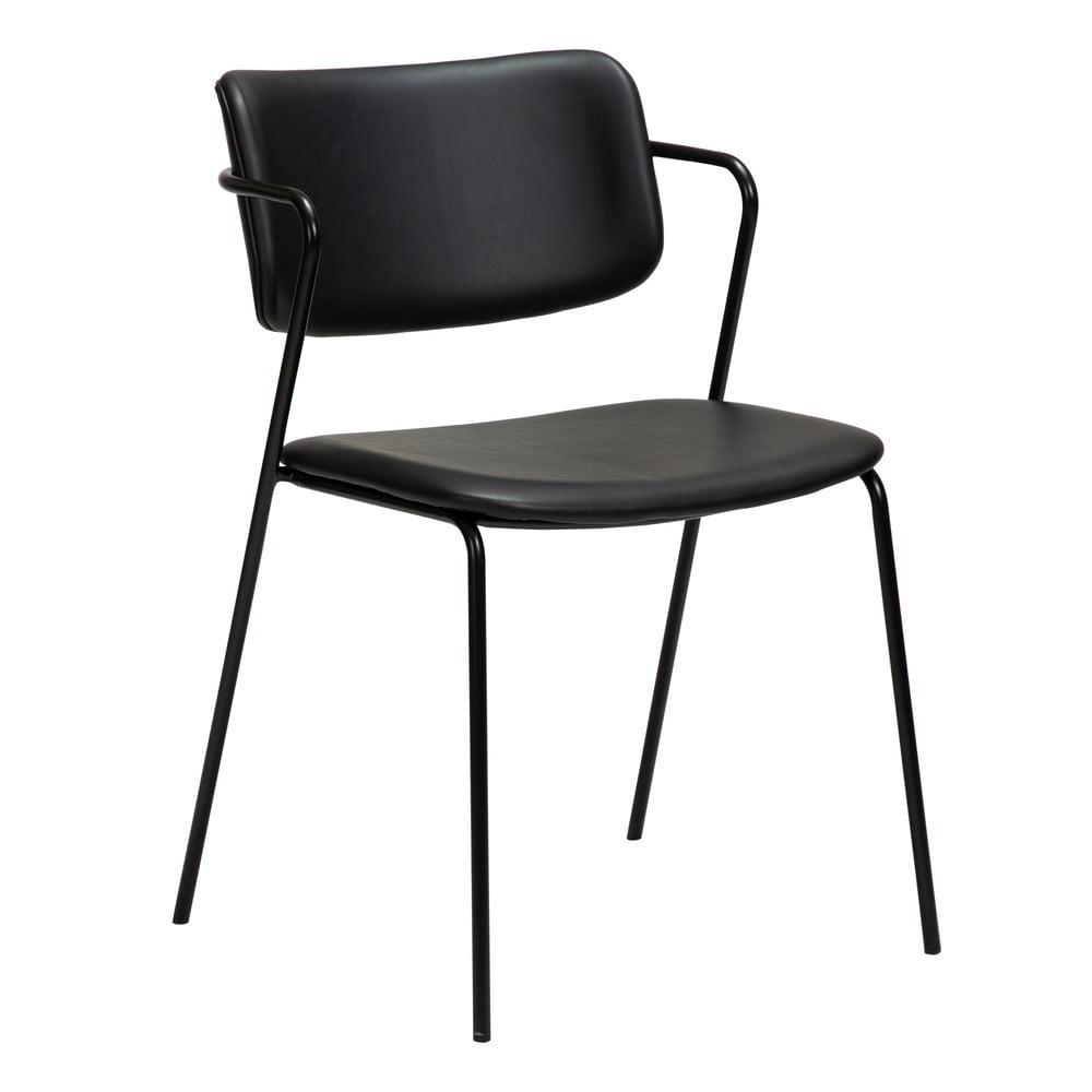 Czarne krzesło z imitacji skóry DAN-FORM Denmark Zed