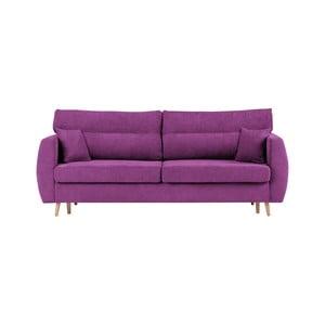 Fioletowa 3-osobowa sofa rozkładana ze schowkiem Cosmopolitan design Sydney, 231x98x95 cm