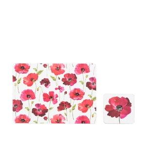 Zestaw 4 podstawek i 4 mat stołowych Sabichi Poppy