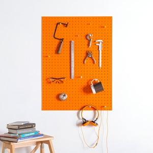Pomarańczowa tablica wielofunkcyjna Pegboard Large, 61x81cm