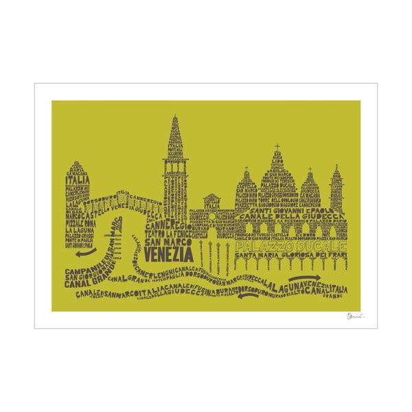 Plakat Venezia Green&Grey, 50x70 cm