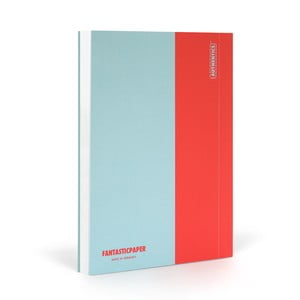 Notes FANTASTICPAPER A5 Skyblue/Warm Red, gładki