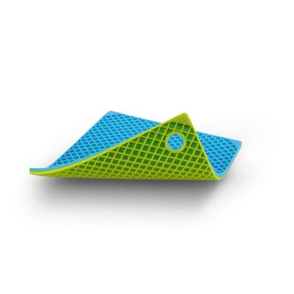 Silikonowa podkładka kuchenna, niebieska/zielona