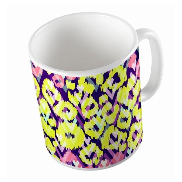 Ceramiczny kubek Yellow And Pink, 330 ml