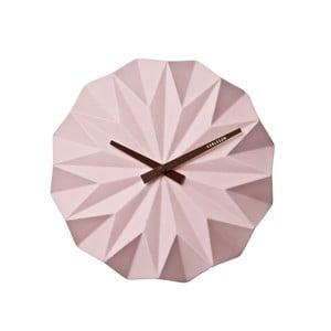 Różowy zegar ścienny Karlsson Origami