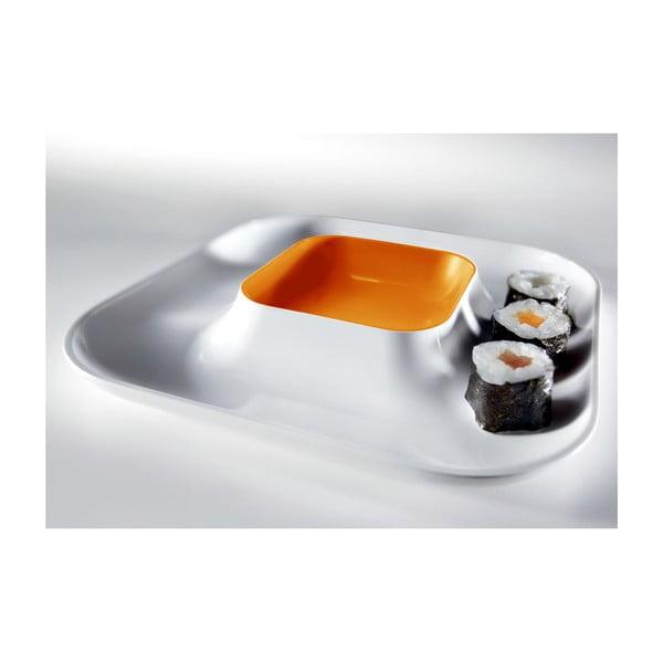 Talerz Entity Orange, 21x21 cm