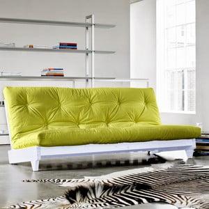 Sofa rozkładana Karup Fresh White/Pistacie