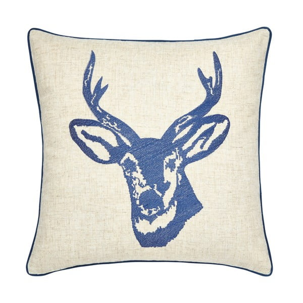 Poduszka Stags Head Navy, 43x43 cm