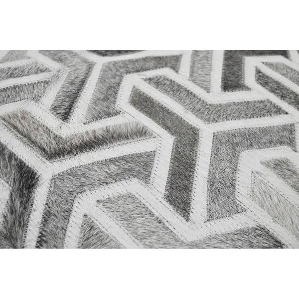 Puf skórzany Bolzano Grey