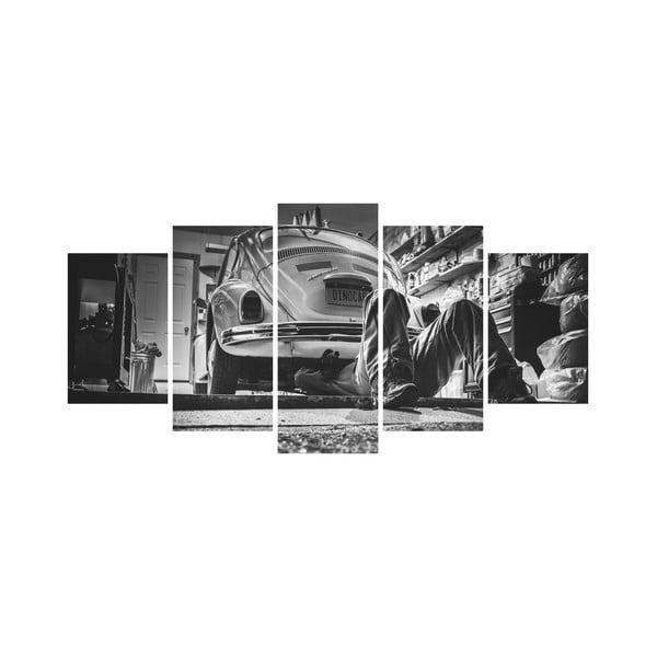 Wieloczęściowy obraz Black&White no. 71, 100x50 cm