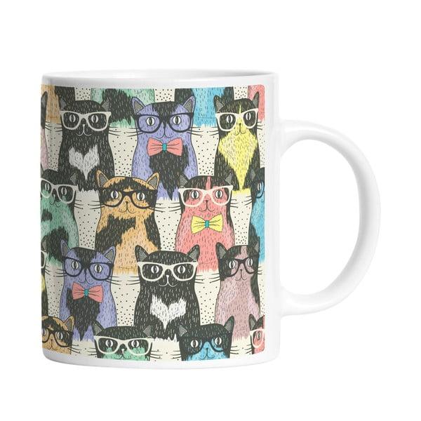 Ceramiczny kubek Cats in Glasses, 330 ml