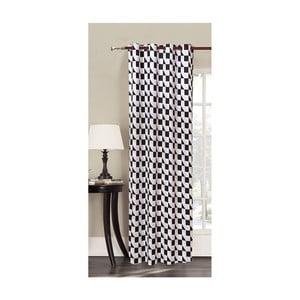 Biała zasłona we wzory z mikrowłókna DecoKing Mystery, 140x245 cm