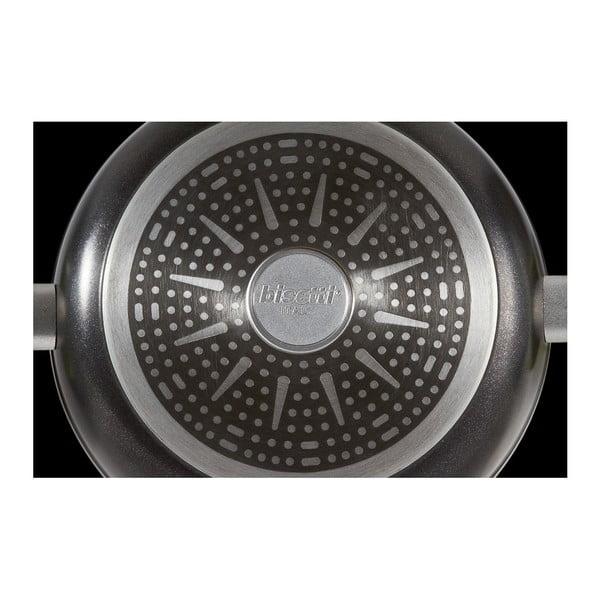 Patelnia z pokrywką i uchwytami w kolorze srebra BiKompletti Black Diamond, wys.6,3cm