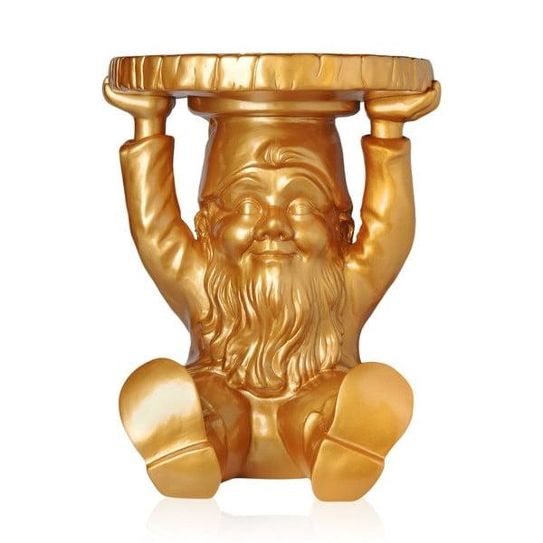 Stolik Krasnal Atilla, złoty