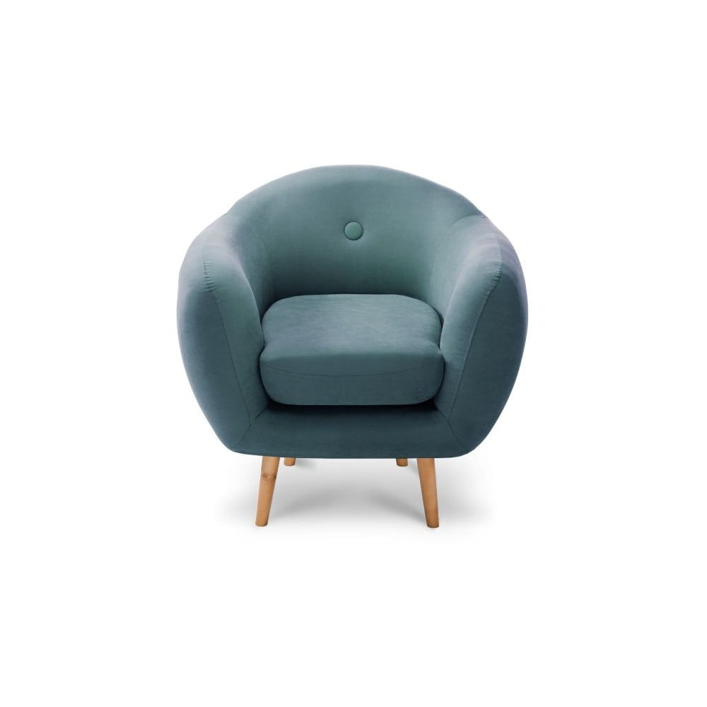Turkusowy fotel Scandi by Stella Cadente Maison