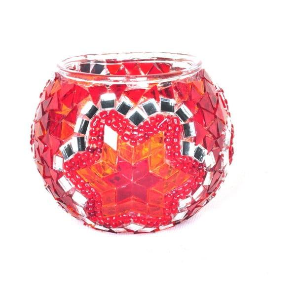 Świecznik szklany Oriental V