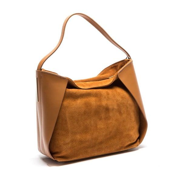 Koniakowa skórzana torebka Isabella Rhea