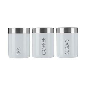 Zestaw 3 pojemników na herbatę, kawę i cukier Premier Housewares Satin