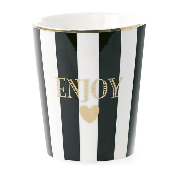 Kubek ceramiczny Enjoy Stripe Black