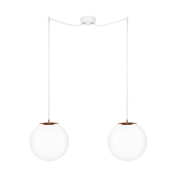 Lampa podwójna Tsuki M Elementary opal matte/copper/white/white