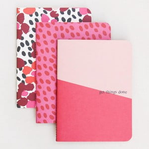 Zestaw 3 notatników Caroline Gardner Jumble Notebooks