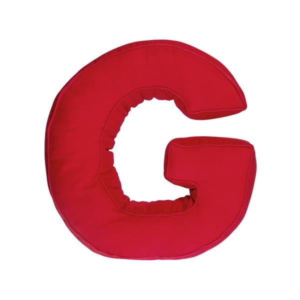 Poduszka w kształcie litery G, czerwona