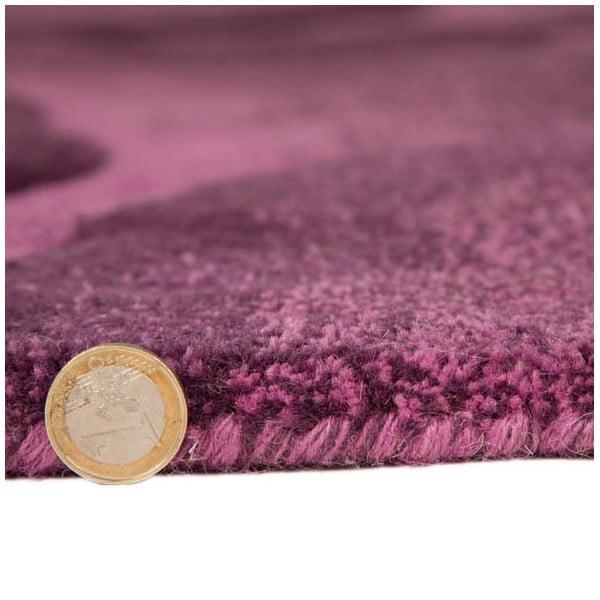 Dywan wełniany Realm, 120x180 cm, fioletowy