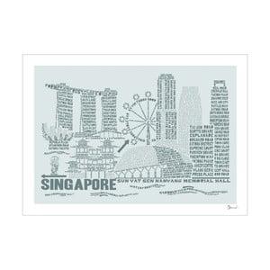 Plakat Singapore Grey&Grey, 50x70 cm