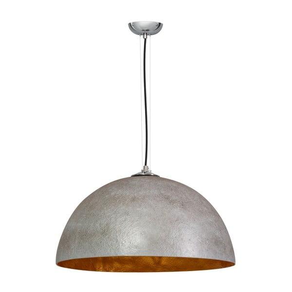 Szaro-miedziana lampa wisząca ETH Mezzo Tondo Kyle, ⌀ 50 cm