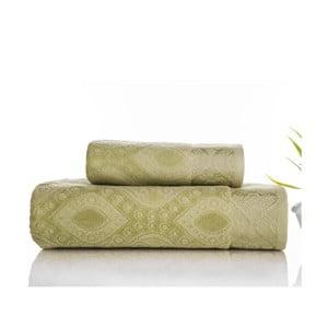 Zestaw 2 ręczników Sal Green, 50x90 cm i 70x140 cm