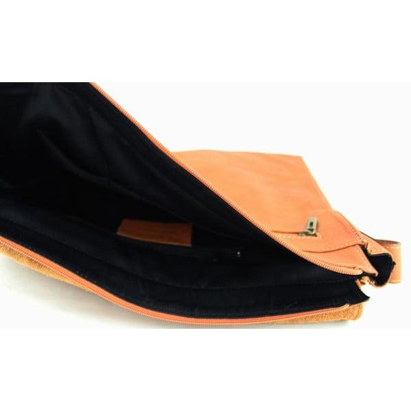 Skórzana torebka unisex Salesia Cognac