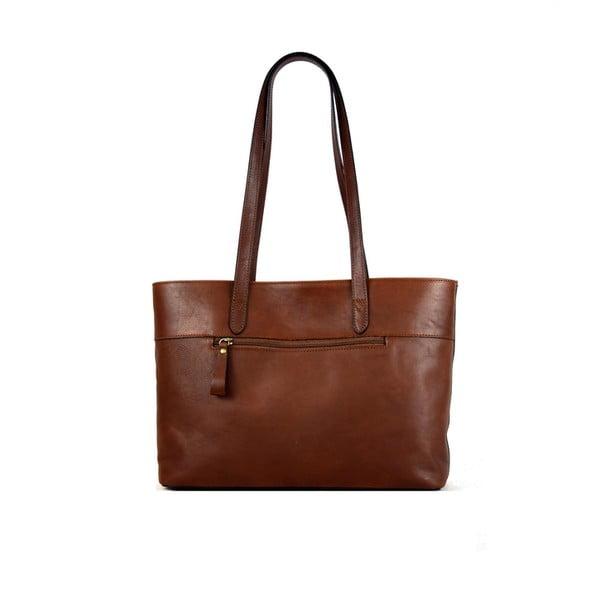 Skórzana torebka Santo Croce M6803 Brown