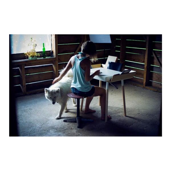 Białe   biurko z 1 szufladą EMKO My Writing