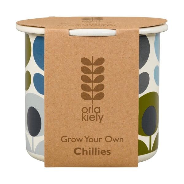 Zestaw doniczki z nasionami chilli Orla Kiely Grow Your Own