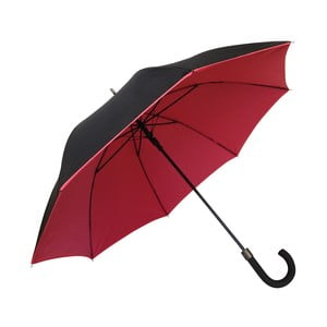 Czerwono-czarny parasol Ambiance Susino Noir Rouge, ⌀104cm