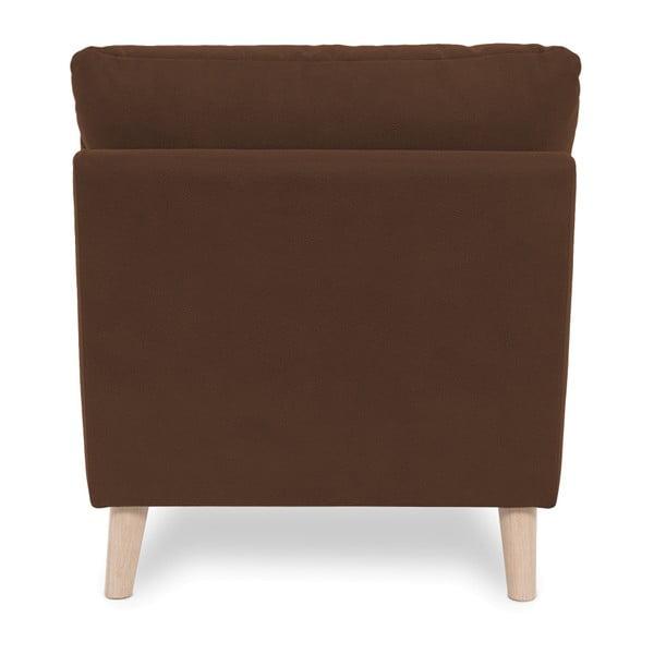 Brązowy fotel z jasnymi nogami Vivonita Bill