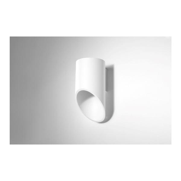 Biały kinkiet Nice Lamps Nixon, długość 20 cm